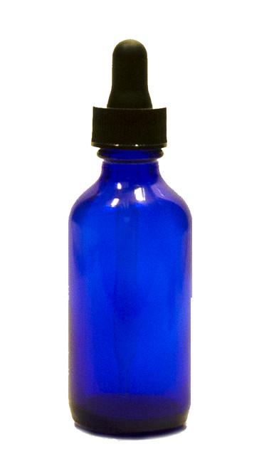 60ML (1oz) Blue Boston Round Bottles with Regular Dropper