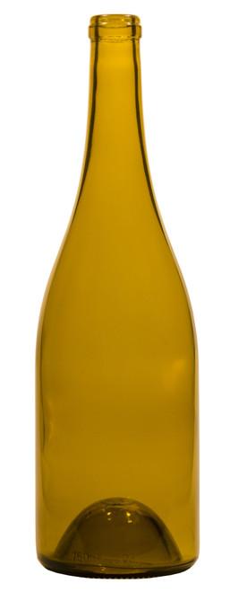 750ml Dead Leaf Green Burgundy Wine Bottle #071 - Case of 12