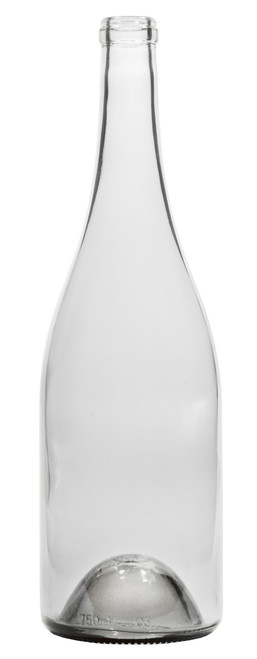 750ml Flint / Clear Burgundy Wine Bottle #071 - Case of 12