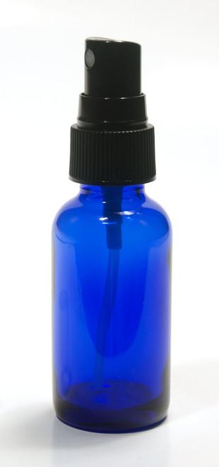 60ML (2oz) Blue Boston Round w/ Fine Mist black sprayer