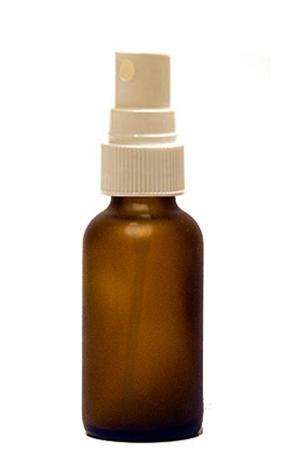 30ML (1oz) Frosted Amber Boston Round Bottles with White Fine Mist Sprayer