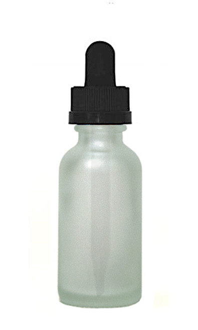 30ML (1oz) Frosted Clear Boston Round Bottles with Child Resistant Dropper