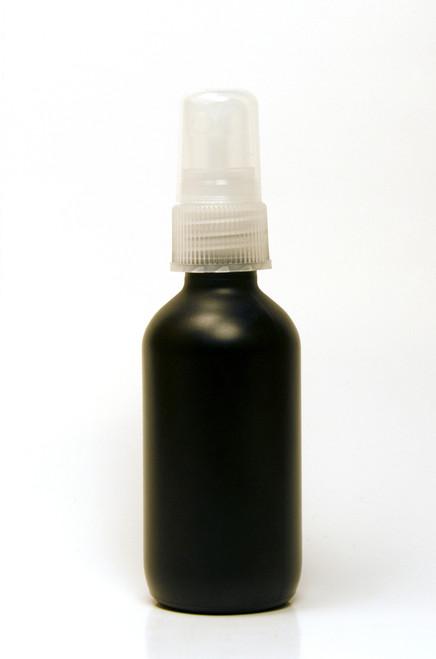30ML Black Boston Round with Clear Fine Mist Sprayer