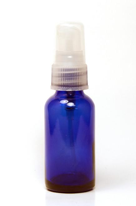 30ML Blue Boston Round with Clear Fine Mist Sprayer
