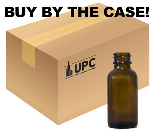 Case of 360 30ML (1oz) Amber Boston Round Bottle