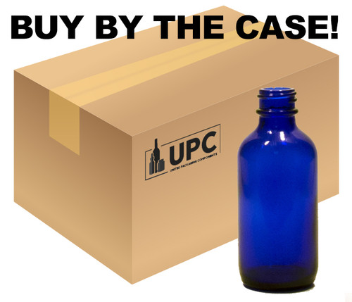 Case of 240 60ML (2 oz) Blue Boston Round Bottle - 10% OFF