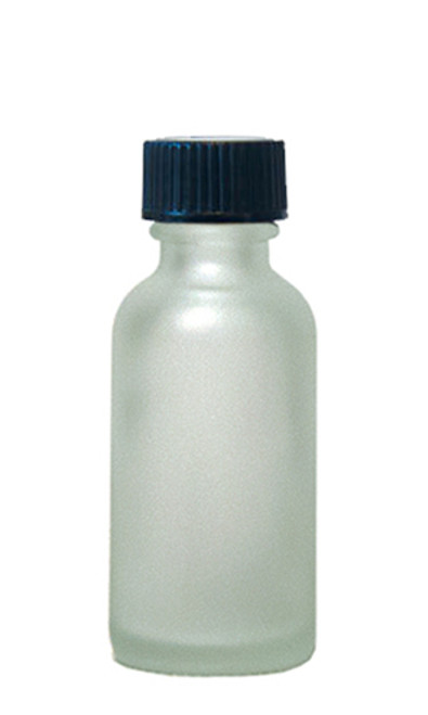 60ML (2oz) Frosted Clear Boston Round Bottles w/ Polycone Cap