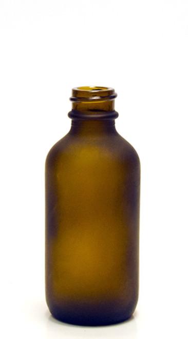 60ML (2oz) Frosted Amber Boston Round Bottles