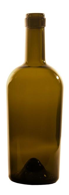 750ml Antique Green Bordeaux Port Wine Bottle