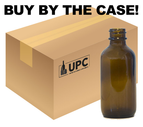 60ML (2 oz) Amber Boston Round Bottle - Case of 240