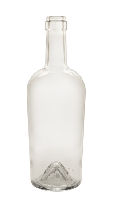 750ml Clear Bordeaux Port Wine Bottle