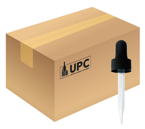 Case of Droppers For 30 ml Boston Round with 20-400 Neck (BLACK) (CASE-8124) (view)