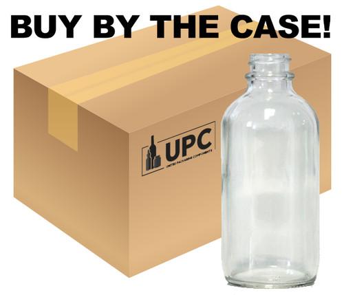 120 ML (4 oz) Clear Boston Round Bottles -24-400- Case of 128