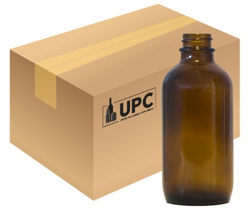 Case of 128 60ML (2 oz) Amber Boston Round Bottle-24-400