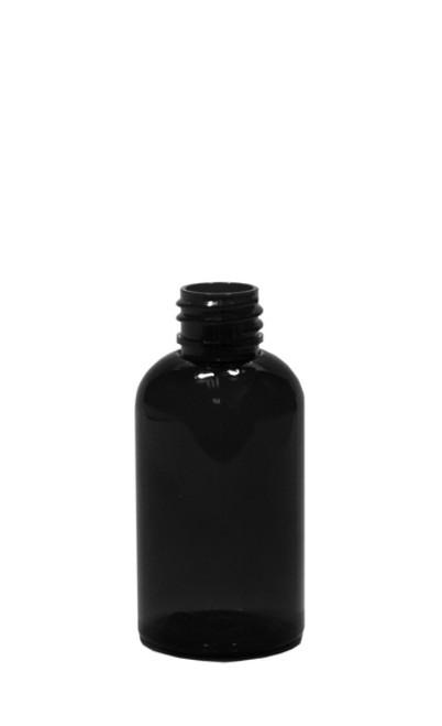 30 ml (1 oz.) black PET Plastic Boston Round Bottle