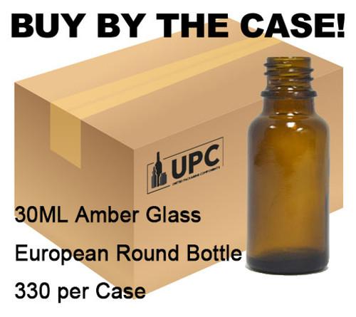 30 ML Euro Amber Glass Bottle 18-415 - Case of 330 bottles (case of 330-2109-FL)