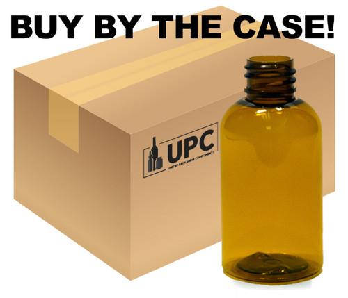 Case of 30 ml (1 oz) Amber PET Plastic Boston Round Bottles