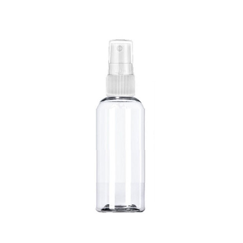 30 ml (1oz ) clear PET bullet Boston bottle with 20-410 neck finish With white Sprayer
