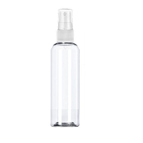60 ml (2oz ) clear PET bullet Boston bottle with 20-410 neck finish With white Sprayer
