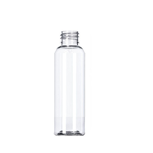 60 ml (2oz ) clear PET Cosmo round bottle with 20-410 neck