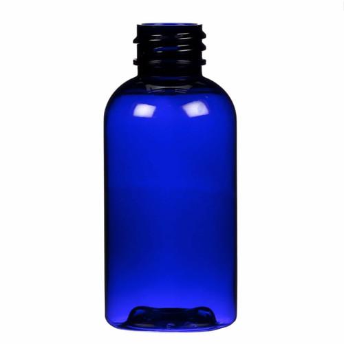 1120 pcs/case This 2 ounce PET boston round bottle has a 20-410 continuous thread neck finish.
