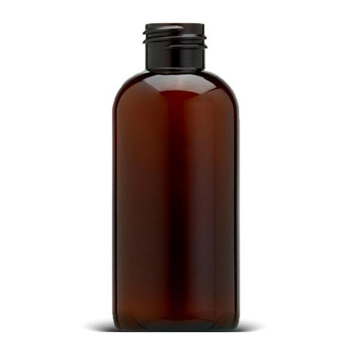 500 pcs/case 4 oz 120 ml Light Amber PET Boston Round Plastic Bottles, with 24mm 24-410 Neck Finish.