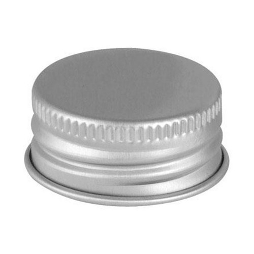 20mm 20-400 Pulp Poly Silver Metal Screw Cap
