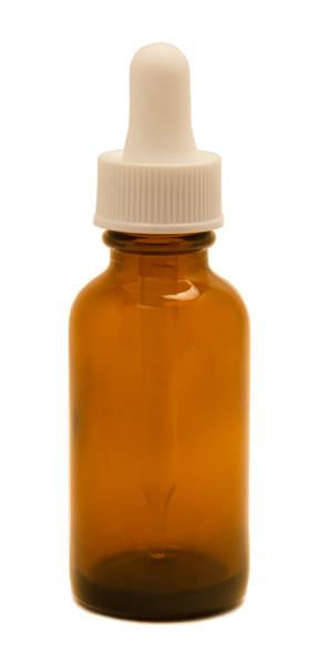 30ML (1oz) Amber Boston Round Bottle With White Regular Dropper