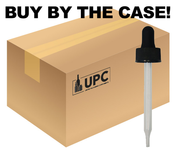 Case of CRC Glass Dropper For 60ml Boston Round with 20mm-neck