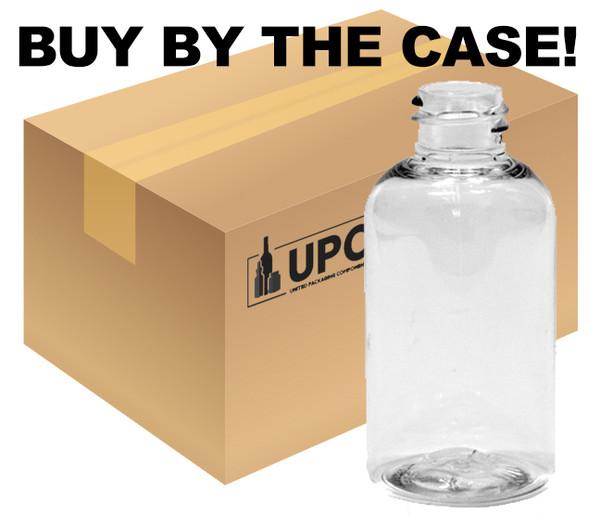 Case of 30 ml (1 oz) Clear PET Plastic Boston Round Bottles