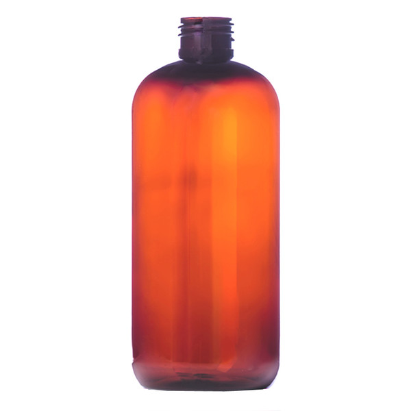 216 pcs/case 12 oz 360 ml Light Amber PET Boston Round Bottle