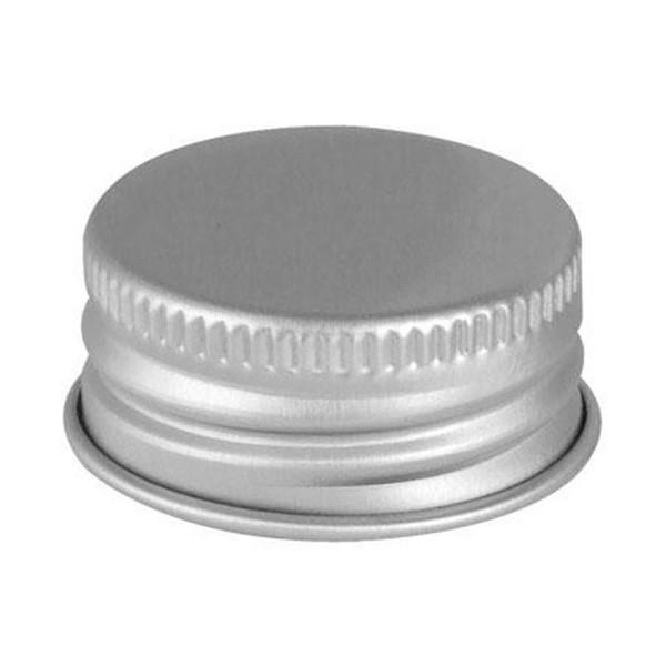 20mm 20-400 Pulp Poly Silver Metal Screw Cap