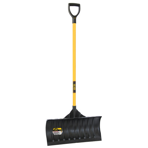 "24"" Poly Snow Pusher with Shaped Fiberglass Handle"