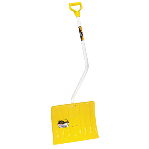 Bent-Handle Steel Snow Shovel