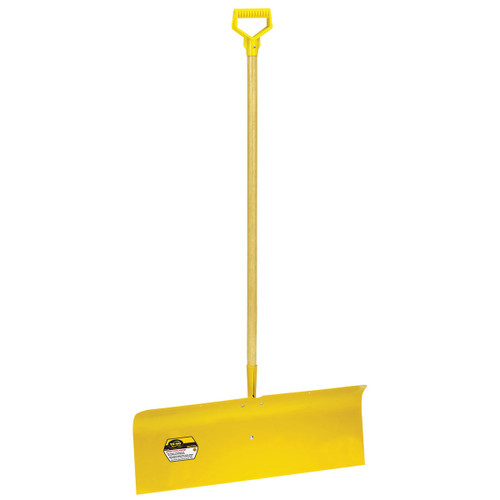 "30"" Spring Steel Snow Pusher with D-grip"