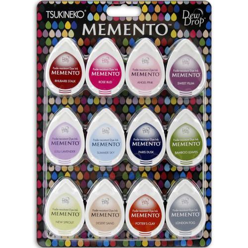Memento Sorbet Scoops 12 pack Dew Drop Dye Inkpads by Tsukineko
