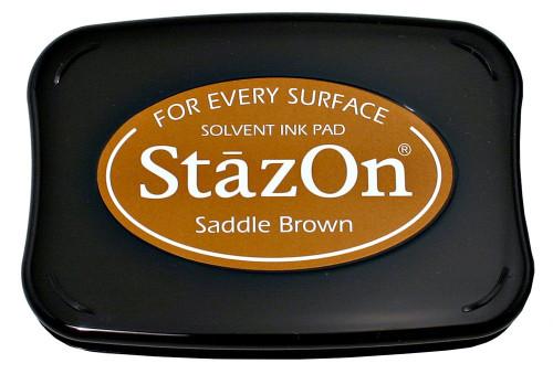 StazOn Saddle Brown Solvent Inkpad by Tsukineko