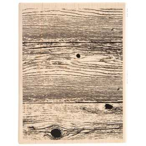 Stampabilities Woodgrain Background Wood Mount Rubber Stamp