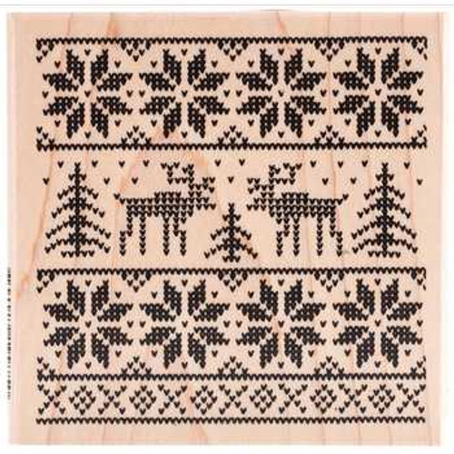 Sweater Square Rubber Stamp by Stampendous