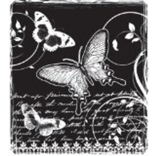 Hampton Art Hot Fudge Studio On Butterfly Wings Rubber Stamp