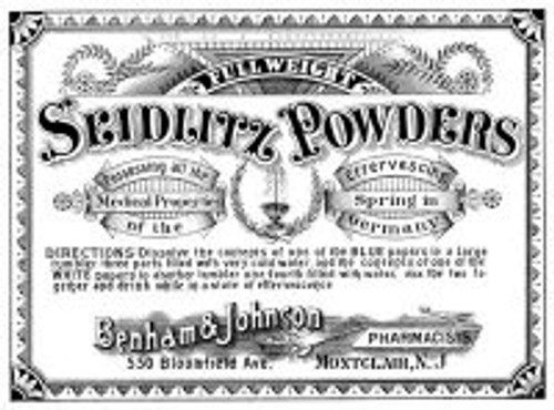 American Art Stamp Wood Handle Rubber Stamp Seidlitz Powders