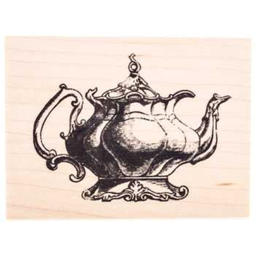Tea Pot Wood Mount Rubber Stamp by Lizzie Anne Designs and American Art Stamps