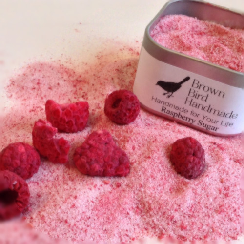Raspberry Flavored Sugar for Rimming and Finishing