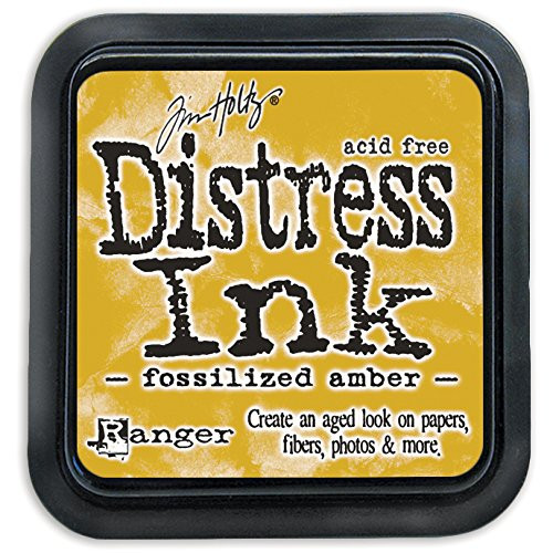 Tim Holtz Fossilized Amber Yellow Distress Ink Pad by Ranger