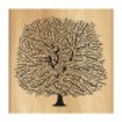 Family Tree Word Cloud Wood Mounted Rubber Stamp by Momenta