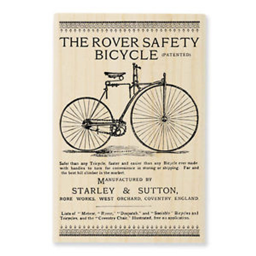 Bicycle Works Wood Rubber Stamp by Stampendous