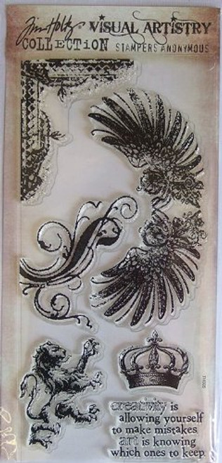Tim Holtz Regal Flourishes Clear Cling Stamps by Stampers Anonymous