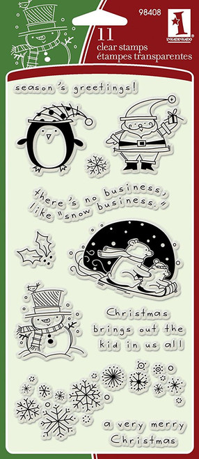 Christmas Characters Clear Cling Stamp Set by Inkadinkado