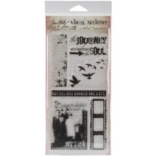 Tim Holtz Lost and Found Clear Cling Stamp Set by Stampers Anonymous