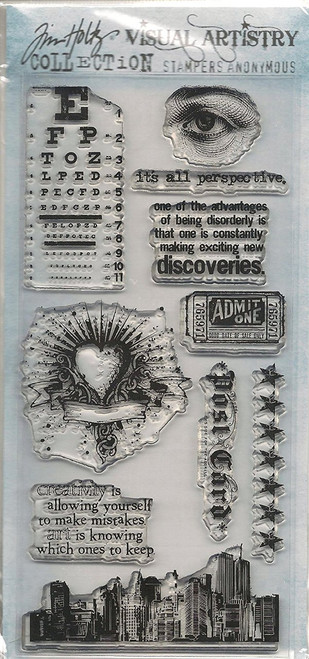 Tim Holtz City Central Clear Cling Stamp Set by Stampers Anonymous